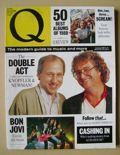 Q magazine - Mark Knopfler and Randy Newman cover (January 1989)