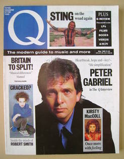 Q magazine - Peter Gabriel cover (May 1989)