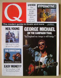 Q magazine - George Michael cover (June 1988)