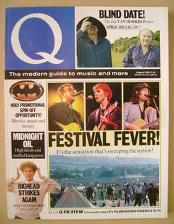 <!--1989-08-->Q magazine - Festival Fever! cover (August 1989)