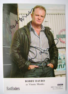 Bobby Davro autographed photo (ex EastEnders actor)
