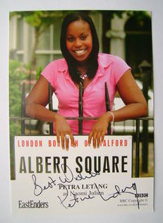 Petra Letang autographed photo (ex EastEnders actor)