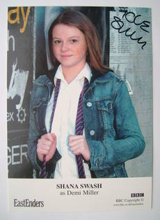 Shana Swash autograph (ex EastEnders actor)