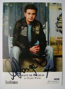 Matt Di Angelo autograph