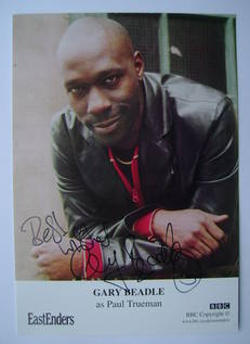 Gary Beadle autograph (ex EastEnders actor)