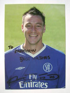 John Terry autographed signed photo