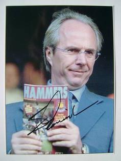 Sven-Goran Eriksson autographed photo