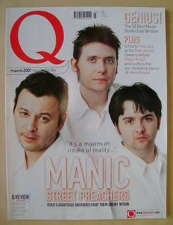 Q magazine - Manic Street Preachers cover (March 2001)