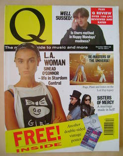 Q magazine - Sinead O'Connor cover (December 1990)