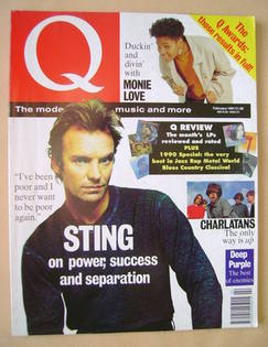 Q magazine - Sting cover (February 1991)