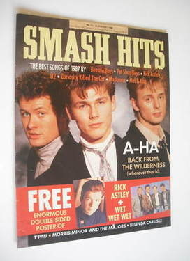 <!--1988-01-13-->Smash Hits magazine - A-Ha cover (13-26 January 1988)
