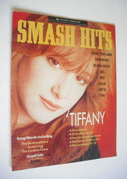 <!--1988-01-27-->Smash Hits magazine - Tiffany cover (27 January-9 February