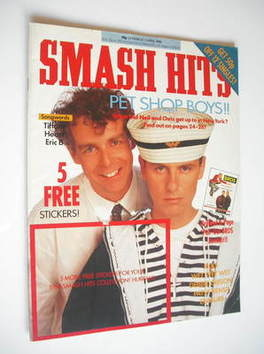 <!--1988-03-23-->Smash Hits magazine - Pet Shop Boys cover (23 March-5 Apri