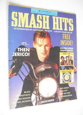 <!--1987-09-09-->Smash Hits magazine - Mark Shaw cover (9-22 September 1987