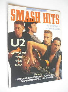 <!--1987-11-04-->Smash Hits magazine - U2 cover (4-17 November 1987)