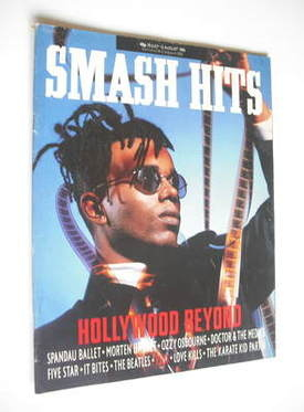 <!--1986-07-30-->Smash Hits magazine - Mark Rogers cover (30 July - 12 Augu