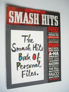 <!--1986-10-08-->Smash Hits magazine - Billy Idol cover (8-21 October 1986)