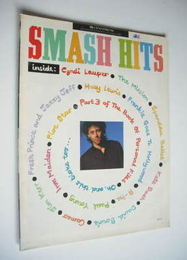 <!--1986-11-05-->Smash Hits magazine - Bob Geldof cover (5-18 November 1986