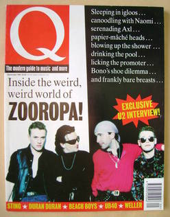 Q magazine - U2 cover (September 1993)