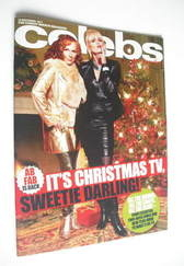 <!--2011-12-18-->Celebs magazine - Joanna Lumley and Jennifer Saunders cove