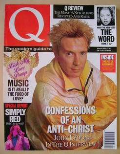 Q magazine - John Lydon cover (March 1992)