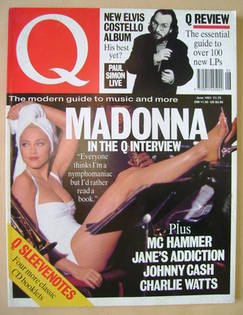 Q magazine - Madonna cover (June 1991)