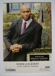Nicholas R. Bailey autographed photo (ex EastEnders actor)