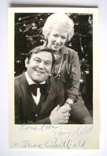 Terry Scott and June Whitfield autograph