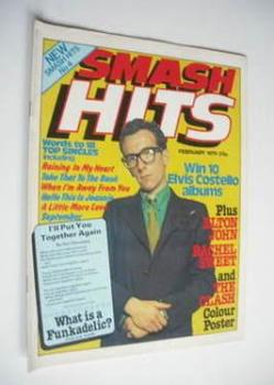 Smash Hits magazine - Elvis Costello cover (February 1979 - Issue No 4)