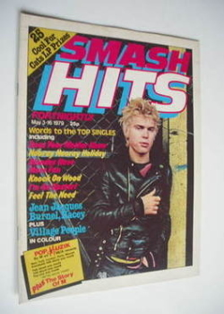 Smash Hits magazine - Billy Idol cover (3-16 May 1979)