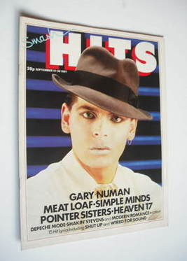 <!--1981-09-17-->Smash Hits magazine - Gary Numan cover (17-30 September 19