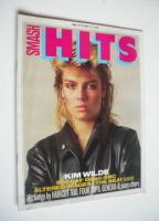 <!--1981-11-12-->Smash Hits magazine - Kim Wilde cover (12-25 November 1981)