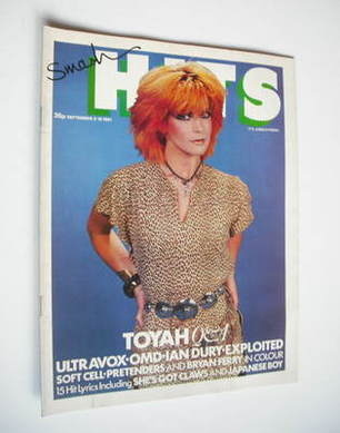 <!--1981-09-03-->Smash Hits magazine - Toyah cover (3-16 September 1981)