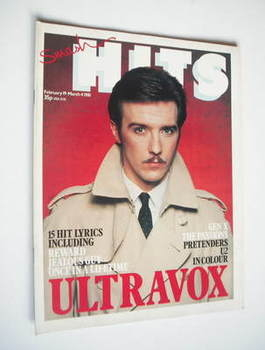 <!--1981-02-19-->Smash Hits magazine - Ultravox cover (19 February-4 March