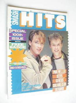 <!--1982-09-30-->Smash Hits magazine - Martin Kemp and Gary Kemp cover (30