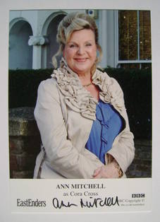Ann Mitchell autograph (EastEnders actor)