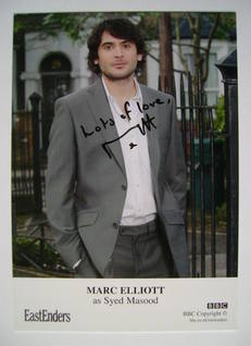 Marc Elliott autographed photo (EastEnders actor)