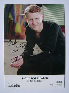 Jamie Borthwick autographed photo (EastEnders actor)