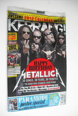 <!--2011-12-03-->Kerrang magazine - Metallica cover (3 December 2011 - Issu