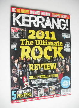 <!--2011-12-17-->Kerrang magazine - 2011 The Ultimate Rock Review cover (17