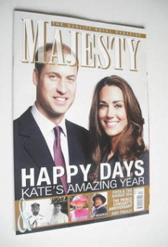 Majesty magazine - Prince William and Kate Middleton cover (December 2011)