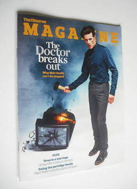<!--2011-12-04-->The Observer magazine - Matt Smith cover (4 December 2011)