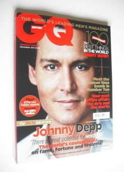 British GQ magazine - December 2011 - Johnny Depp cover