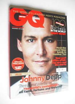 <!--2011-12-->British GQ magazine - December 2011 - Johnny Depp cover