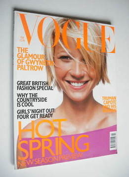 <!--1998-02-->British Vogue magazine - February 1998 - Gwyneth Paltrow cove