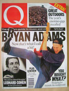 Q magazine - Bryan Adams cover (November 1991)