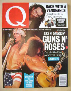 Q magazine - Guns N' Roses cover (July 1991)