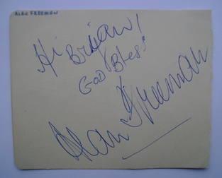 Alan Freeman autograph