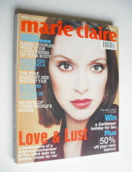 British Marie Claire magazine - March 1997 - Patricia Hartmann cover