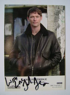 John Partridge autographed photo (EastEnders actor)